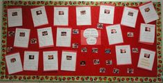 February Bulletin board! I think the staff will have fun guessing these!