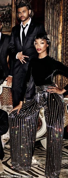 The whole crew: Creator Lee Daniels and guest star Naomi Campbell also  joined the shoot while hitmaker The Weeknd and mega model Jourdan Dunn  (right) also ...