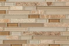 BuildDirect – Mosaic Tile - Fusion Blend Pattern Series  – Caramel - Close View