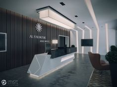 APARTMENTS RECEPTION – RIYADH by Mahmoud Keshta, via Behance