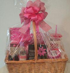 Pink Explosion Gift Basket #pink #giftbasket #spabasket