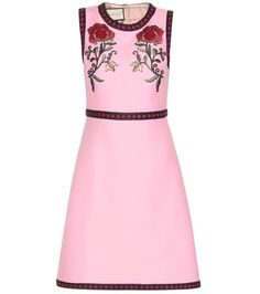 GUCCI Silk And Cotton Dress With Appliqué. #gucci #cloth #dresses