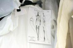 Raf Simons Sketch for Christian Dior Haute Couture