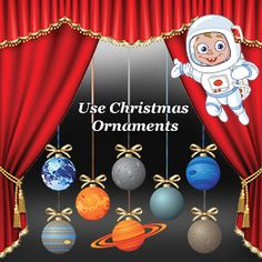 Using christmas ornaments as solar system project material