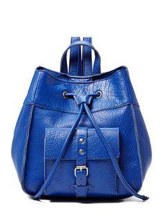 Vintage Franklin Street Leather Backpack by IIIbeca. For some grown-up schoolgirl nostalgia