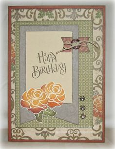 card by Gina Brandstetter using CTMH Huntington paper... (change sentiment)