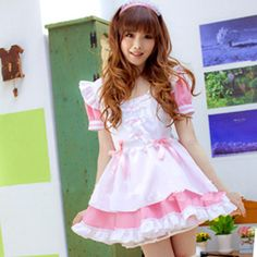 Halloween Cosplay Princess Maid Dress Free Ship sold by SpreePicky. Shop more products from SpreePicky on Storenvy, the home of independent small businesses all over the world. Maid Outfit, Maid Dress, Kawaii Fashion, Lolita Fashion, Girly Outfits, Cute Outfits, Maid Cosplay, Anime Cosplay, Cosplay Girls