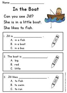 Guided Reading Level C: Very First Reading Comprehension Passages