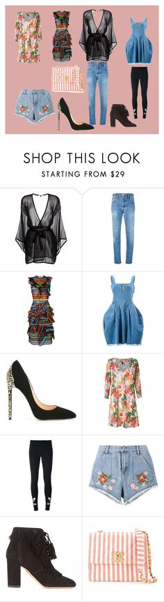"""fashion and style"" by mkrish ❤ liked on Polyvore featuring Gilda & Pearl, RE/DONE, Givenchy, Marques'Almeida, Cerasella Milano, Lygia & Nanny, adidas Originals, House of Holland, Aquazzura and Chanel"