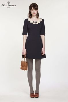 Tea For Two Dress (Navy) - Miss Patina - Vintage Inspired Fashion