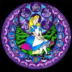 Alice Stained Glass - disney-princess Fan Art