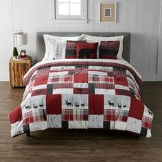 Cuddl Duds Scenic Lodge Heavyweight Flannel Comforter Set | Kohls Christmas Bedding, Christmas Room, Bed Comforter Sets, Comforters, Rustic Quilts, Flannel Duvet Cover, Red Lodge, Bedroom Themes, Bedroom Ideas