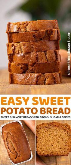 Savory Bread Recipe, Quick Bread Recipes, Sweet Recipes, Baking Recipes, Dessert Recipes, Easy Sweet Potato Bread Recipe, Baking Sweet Potato, Savory Sweet Potato Recipes, Top Recipes