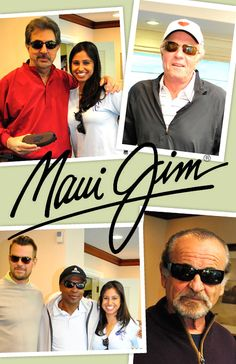 Some of your favorite stars got shady with Maui Jim at the James Caan Celebrity Golf Tournament. Check out Joe Montegna in Black Coral, James Caan in Ironwoods, Josh Duhamel in Pau Hana and Sugar Ray Leonard in Longboard, and Joe Pesci in Akamai