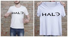 Halo T Shirt Gamer Tee Halo Shirt ScreenPrint by TheHereAfter
