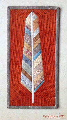 Anna Maria Horner Scrap Fabric Feather No #2 by Frances at Fabadashery