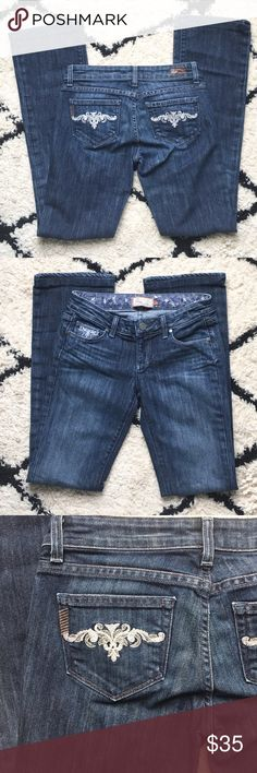 """Paige Jeans🎈$20 JEAN SALE🎈Like-new These jeans are Bootcut, like-new and are the Benedict Canyon style. 31"""" inseam. Reasonable offers always welcome and DON'T FORGET TO BUNDLE FOR A DISCOUNT. Thanks for looking!! Xoxo -J Paige Jeans Jeans Boot Cut"""