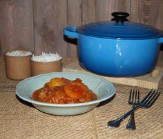 Lamb curry with apricots