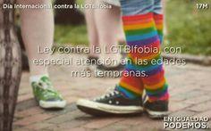 Por una ley contra la LGTBIfobia. Por un país con su gente. NO a la #LGTBfobia