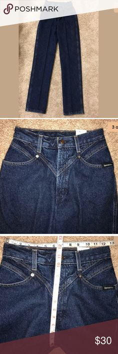 New vintage Rockies jeans New with tags awesome vintage pair of Rocky Mountain jeans. High waisted, dark denim. Size 5, 25x34. Please see pics for measurements and details. From smoke free home. Made in USA! rocky mountain Jeans Straight Leg