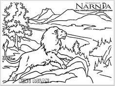 King Aslan Chronicles Of Narnia Coloring Pages