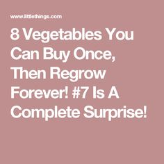 8 Vegetables You Can Buy Once, Then Regrow Forever! #7 Is A Complete Surprise!