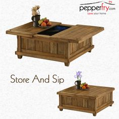 This slate style coffee table is a fabulous piece of furniture as it serves as a coffee table and storage box both.
