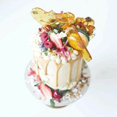 Cakes By Cliff:tall mini caramel field cake with a trail mix praline Pretty Cakes, Beautiful Cakes, Amazing Cakes, Buttercream Decorating, Cake Decorating, Decorating Ideas, Fondant Cakes, Cupcake Cakes, Cupcakes