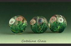 Glass Lampwork Beads Handmade SRA by Catalina by catalinaglass, $30.00