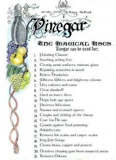 Herbs:  #BOS #Vinegar and Magickal Uses page.