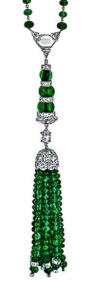 Emerald Beaded Necklace by Tiffany & Co