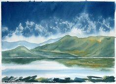 PJ ORIGINAL WATERCOLOUR PAINTING Scottish Landscape ARRAN FROM PORT CARRICK | eBay