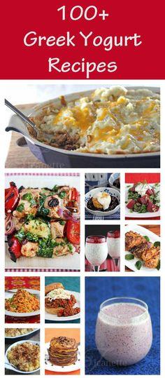 100 Greek Yogurt Recipes -- How To Use Greek Yogurt! via @Jeanette | Jeanette's Healthy Living
