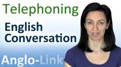 Telephoning - English Conversation Lesson