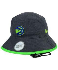 570ce7df1b1 New Era Atlanta Hawks Dark Heather Tipped Bucket Hat Hat Men
