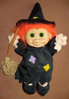 "RUSS SOFT BODY WITCH 9"" TROLL DOLL"