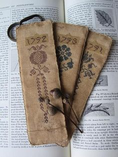 Bookmark antique - love these! I would frame these, they're so beautiful.