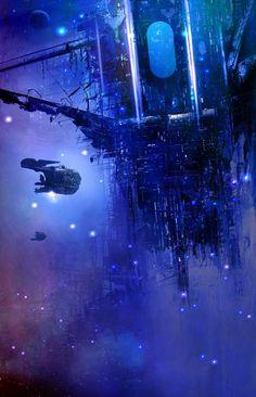 ArtStation - Track, Hugh Sicotte   Sci-Fi space station spaceships spacecraft futuristic technology