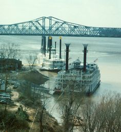 Riverboats on the Mississippi River  Natchez Miss.- love the history of this place