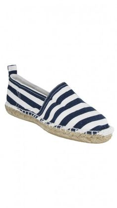 Malia Espadrille - Navy Stripe $15 >> cute for summer!