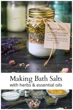 Bath Salts Recipe Essential Oils Mason Jars Ideas For 2019 Mason Jars, Mason Jar Gifts, Bath Salts Recipe, Diy Beauté, Diy Spa, Diy Hanging Shelves, Mason Jar Lighting, Diy Home Decor Projects, Jar Crafts