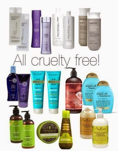 CRUELTY FREE Shampoo- click for the best cruelty free Brands LIST (MAKE UP AND COSMETIC 2014) | Beauty4Free2U (Attention: Organix is no longer cruelty-free!!!)