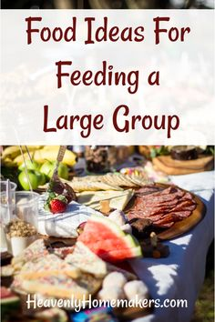 Need food ideas for feeding a large group? Here are some tips from my latest experience feeding our college soccer teams!