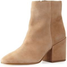 Sam Edelman Taye Suede Chunky-Heel Bootie (640 ILS) ❤ liked on Polyvore featuring shoes, boots, ankle booties, ankle boots, golden caramel, chunky high heel boots, chunky heel ankle boots, sam edelman bootie, suede boots and high heel ankle boots