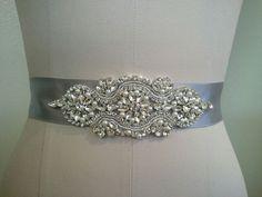 Clear Rhinestone Pearl Wedding Bridal Dress Applique = DIY!