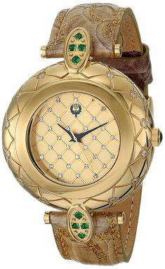 Brillier Womens 3001 Analog Display Swiss Quartz Brown Watch *** Check out this great product. Luxury Watches, Rolex Watches, Wrist Watches, Patek Philippe, Beautiful Watches, Unique Watches, Elegant Watches, Cartier, Devon