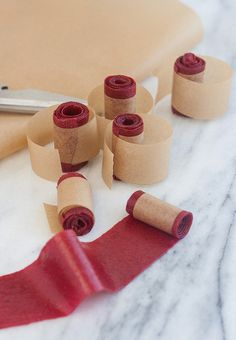 Homemade Raspberry Fruit Leather - great #GF snack for kids!
