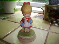 Vintage Avon My ABCs Girl Figurine by Joan Walsh Anglund