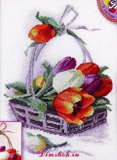 Cross Stitch   Tulips xstitch