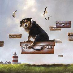 Jimmy Lawlor - Eisenhauer Gallery of Edgartown, MA Art Et Illustration, Illustrations, Dog Portraits, Portrait Art, Jimmy Lawlor, Art Through The Ages, Guilt Trips, Weird Creatures, Fantastic Art